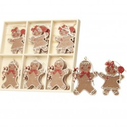 Gingerbread Boy & Girl Hanging Decorations