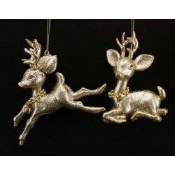 Two Bambi Hanging Decorations