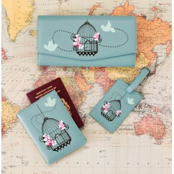 Vintage Birdcage Travel Bundle in Duck Egg Blue