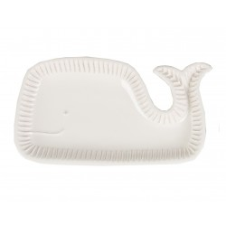 Ceramic White Whale Serving Dish
