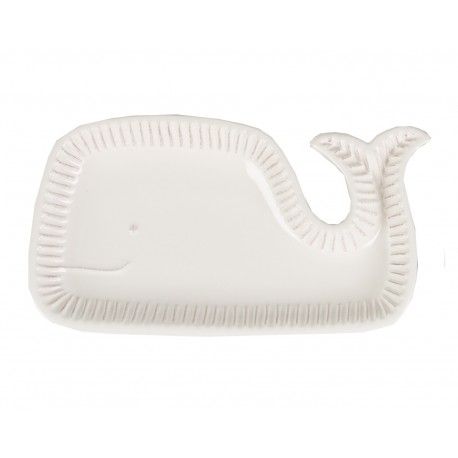 Ceramic White Whale Serving Dish