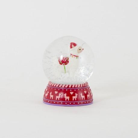 Fa La La Llama Snow Globe