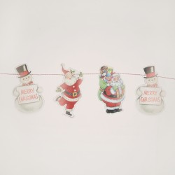 Retro Christmas Paper Bunting