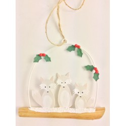Arctic Fox Family Hanging Decor