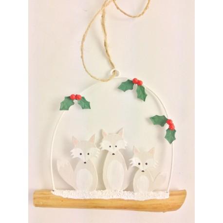 Arctic Fox Family Hanging Decor