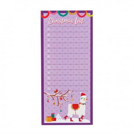 FA La La Llama Christmas List Notepad