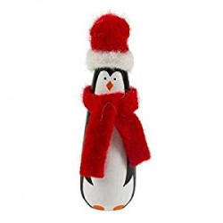Penguin Wrapped up in Wool Decoration