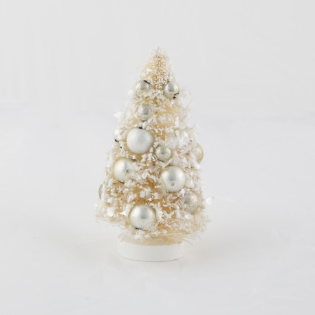 Silver Bauble Tree Standing Decoration