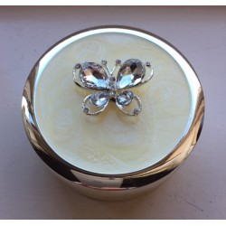 Diamante Butterfly Trinket Box