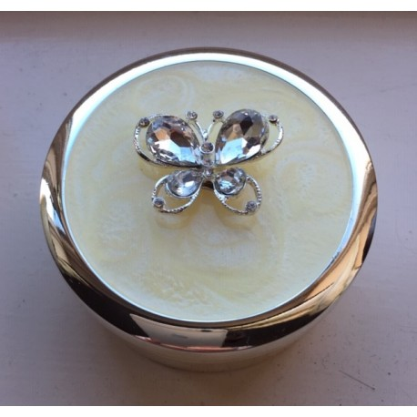 Diamante Butterfly Trinket Box