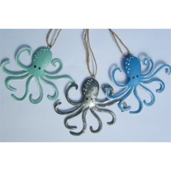 Set of 3 Hanging Octopi