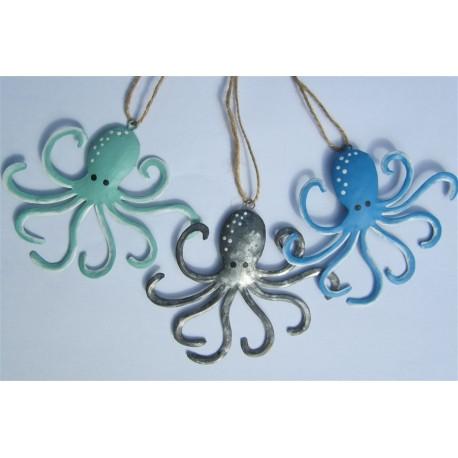 Set of 3 Hanging Octopi