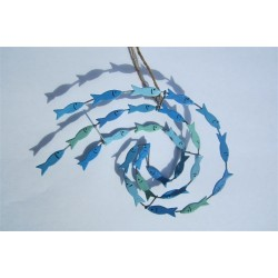 Blue Swirl of Fish Hanging Decoration