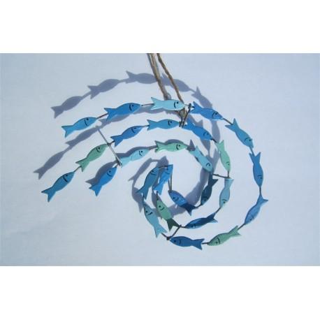 Blue Swirl of Fish Hanging Decoration
