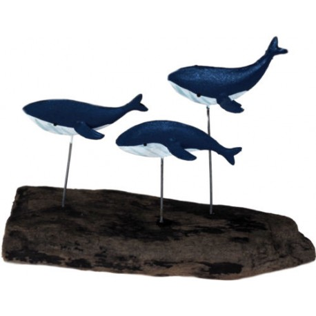 Swimming Pod Of Blue Whales Decoration