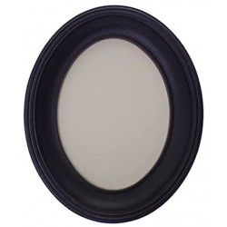 Black Oval Resin Photo Frame