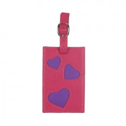 L'Amour Luggage Tag in Fuchsia and Purple