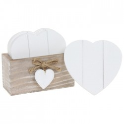 Set of 6 Provence Style Heart Coasters with Stand