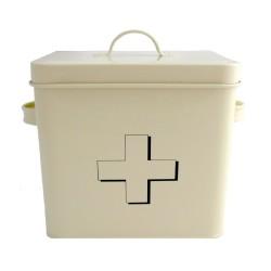 Cream First Aid Tin Box