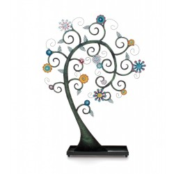 Multi-Coloured Flower Spiral Jewellery Stand