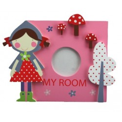 Pink Wooden My Room Photo Plaque