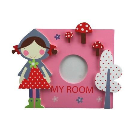 Pink Wooden My Room Photo Plaque