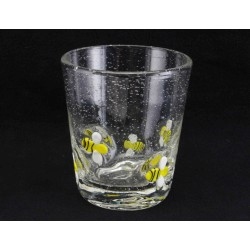 Glass Bumble Bee Embossed Tumbler