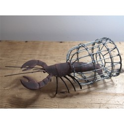 Lionel the Lobster in Trap Decorative Ornament