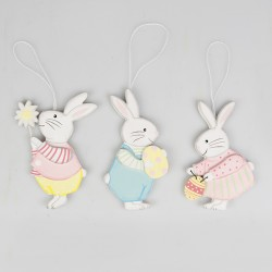 Set of 3 Easter Bunny Hanging Decorations