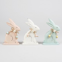 Set of 3 Pastel Easter Bunny Decorations