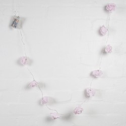 String of 10 Light Pink Rose Style Fairy Lights