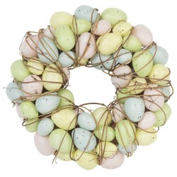 Pastel Egg and Twig Easter Wreath