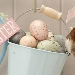 Six Pastel Speckled Egg Decorations