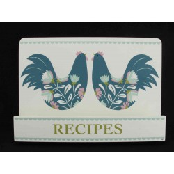 Wooden Hen Recipe Stand