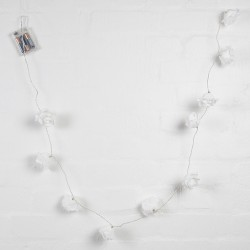 String of 10 White Rose Style Fairy Lights