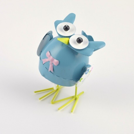 Large Pastel Tin Owl Wobbler