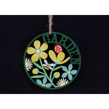 Single Round Kitchen Garden Fretwork Disc Decoration