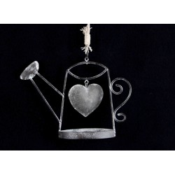 Grey Watering Can Hanging Decoration