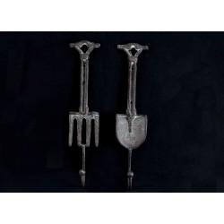 Metal Fork and Shovel Wall Hooks