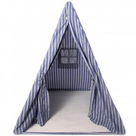 Multi-Stripe Wigwam Play Tent