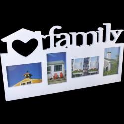 White Family Design Photo Frame