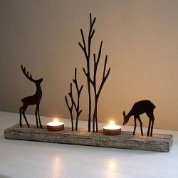 Reindeer Silhouette Tea Light Display