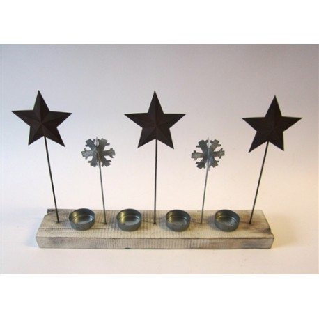 Star and Snowflakes Tealight Holder