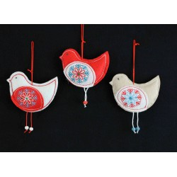 Felt Scandi Bird Decorations