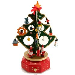 Carousel Christmas Tree Music Box